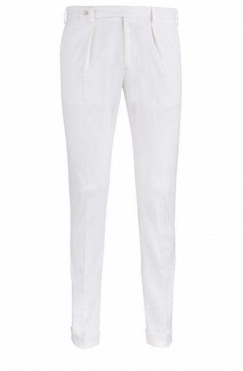 Plain White Trousers Mb3.37218.10