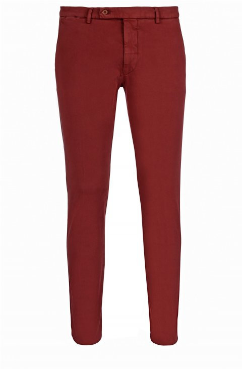 Plain Red Trousers Ts.4887.Mat