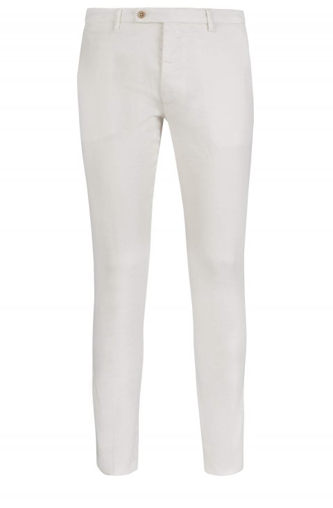 Plain Cream Trousers Ts.5656.Pan