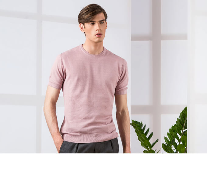 THE NEW KNITTED COTTON T-SHIRT