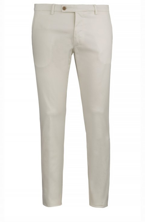 Plain Off White Trousers Ts.9025.Pan