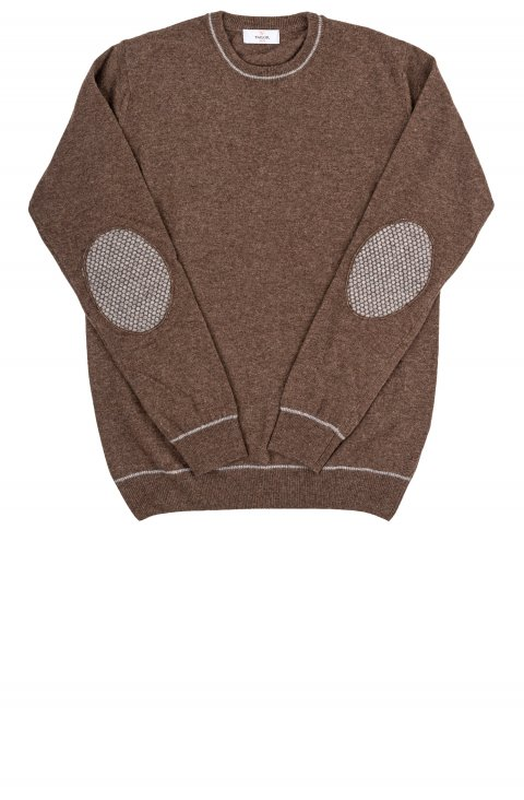 Crew Neck Brown Knit Iral.G35.118