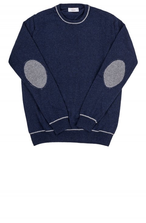 Crew Neck Blue Knit Iral.G35.604