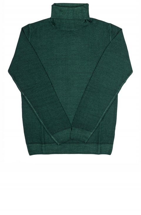 Turtle Neck Green Knit 141352.Dolcevita.Ver