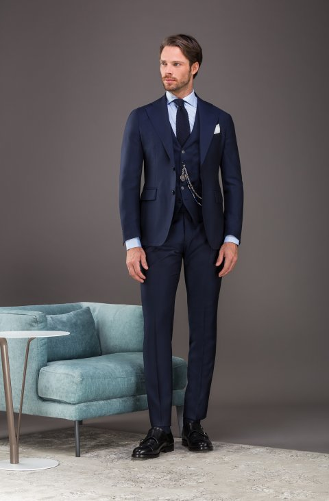 Jacquard Blue Suit Vb286.835.1