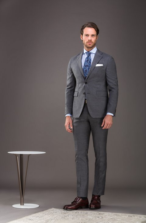 Plain Grey Suit Ag2602.001.035