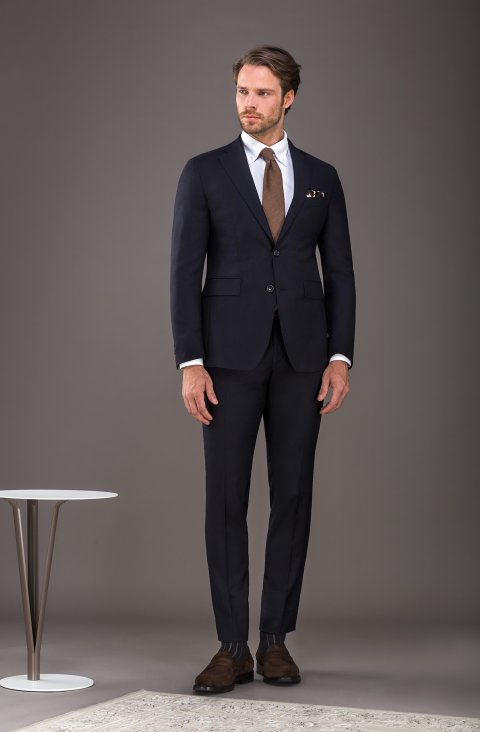 Plain Blue Suit Ag2602.001.5650