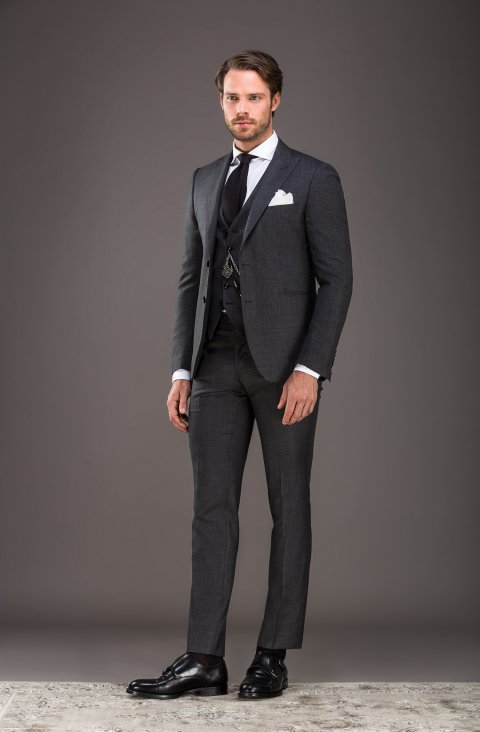 Jacquard Grey Suit Lp301610.8.1