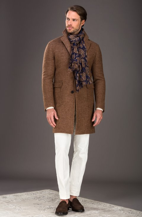 Plain Brown Overcoat Dn.13009.1594