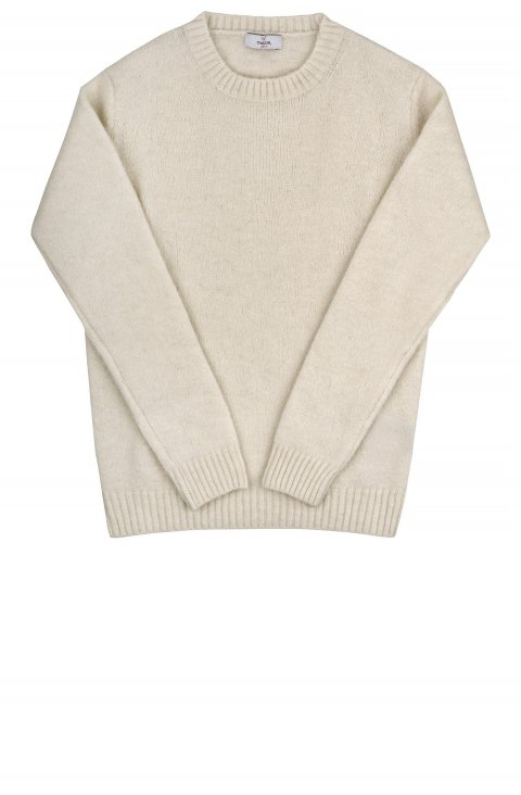 Crew Neck White Knit Anselmo.1081.Bnc