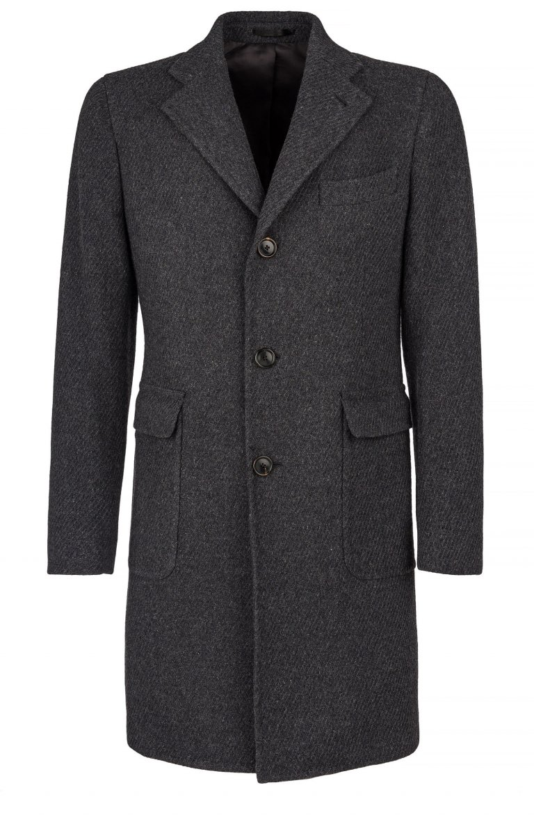 Plain Grey Overcoat Lr.51370.3882