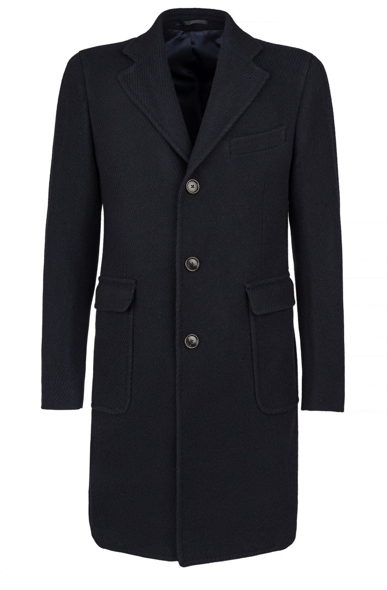 Plain Blue Overcoat Lr.51370.3885