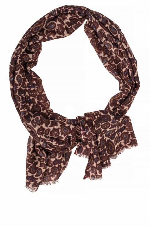 Print Brown Scarf Scr.12257.001