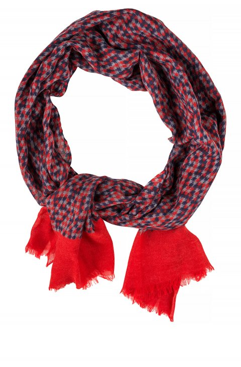 Print Red Scarf Scr.12256.002