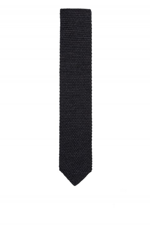 Knitted Grey Tie Mcr.P23.063