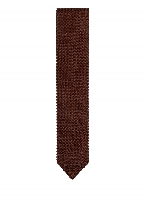 Plain Brown Tie 75146.P29.147