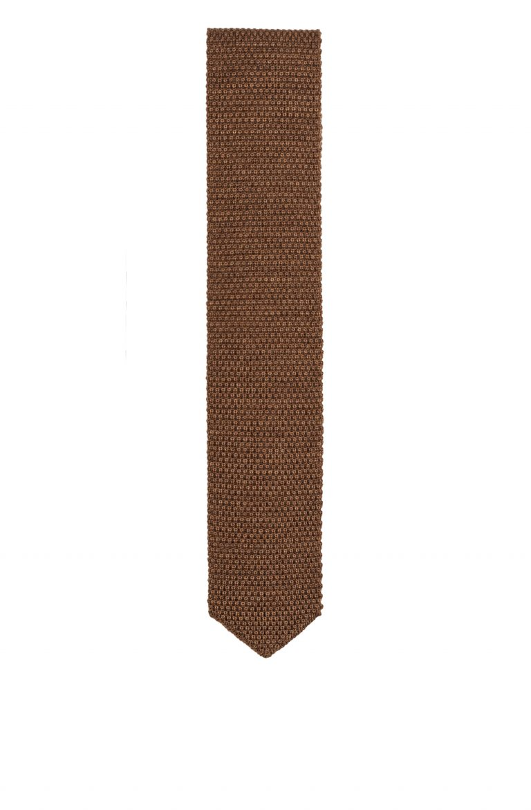 Knitted Brown Tie Mcr.P23.062