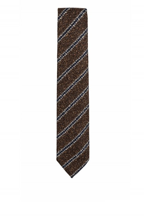 Stripe Brown Tie Crnn.211.3