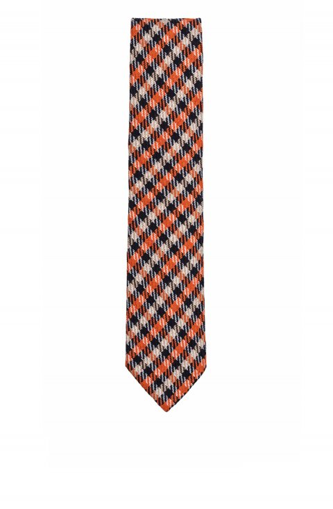 Check Orange Tie Crv.26945.02