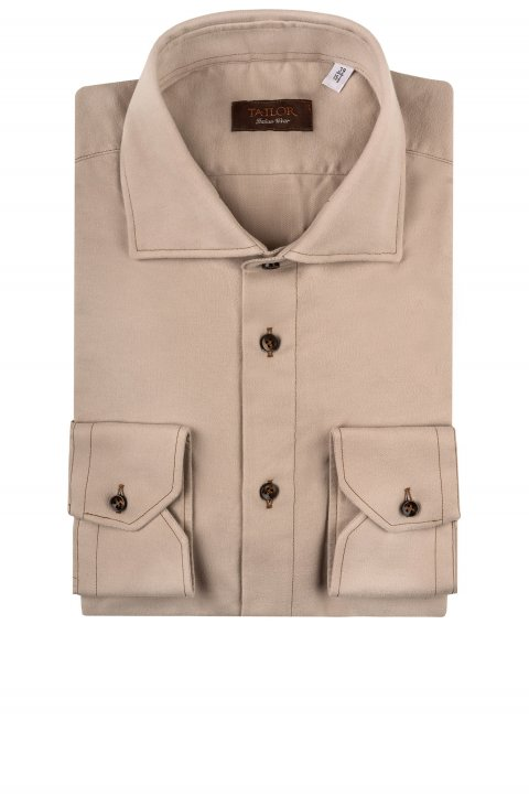 Plain Beige Shirt Tm.358100.263056