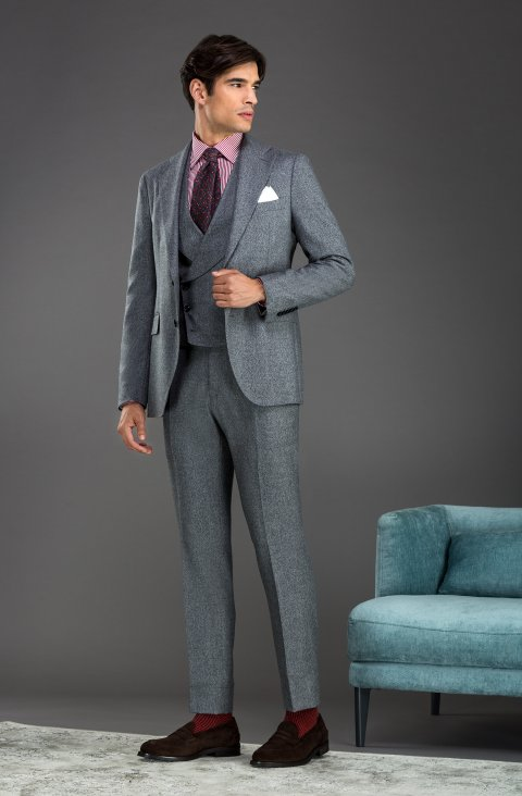 Plain Grey Suit Lp301023.1.51