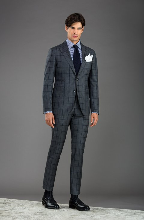 Check Grey Suit Vb27.556.1