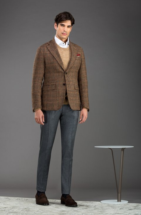 Check Brown Jacket Lr.54931.2693
