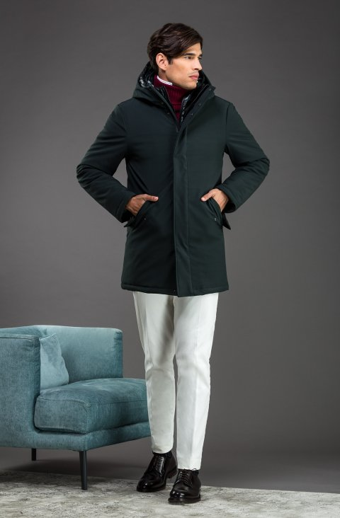 Plain Green Overcoat Ug.527461.527