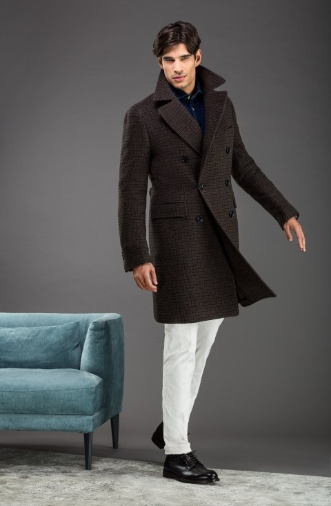 Check Green Overcoat Lr.55230.2554