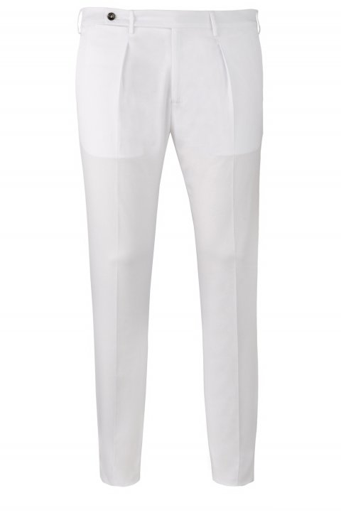 Plain White Trousers Ts.Don.0007
