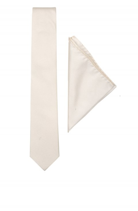 Plain White Set Tie Crm.1200.9