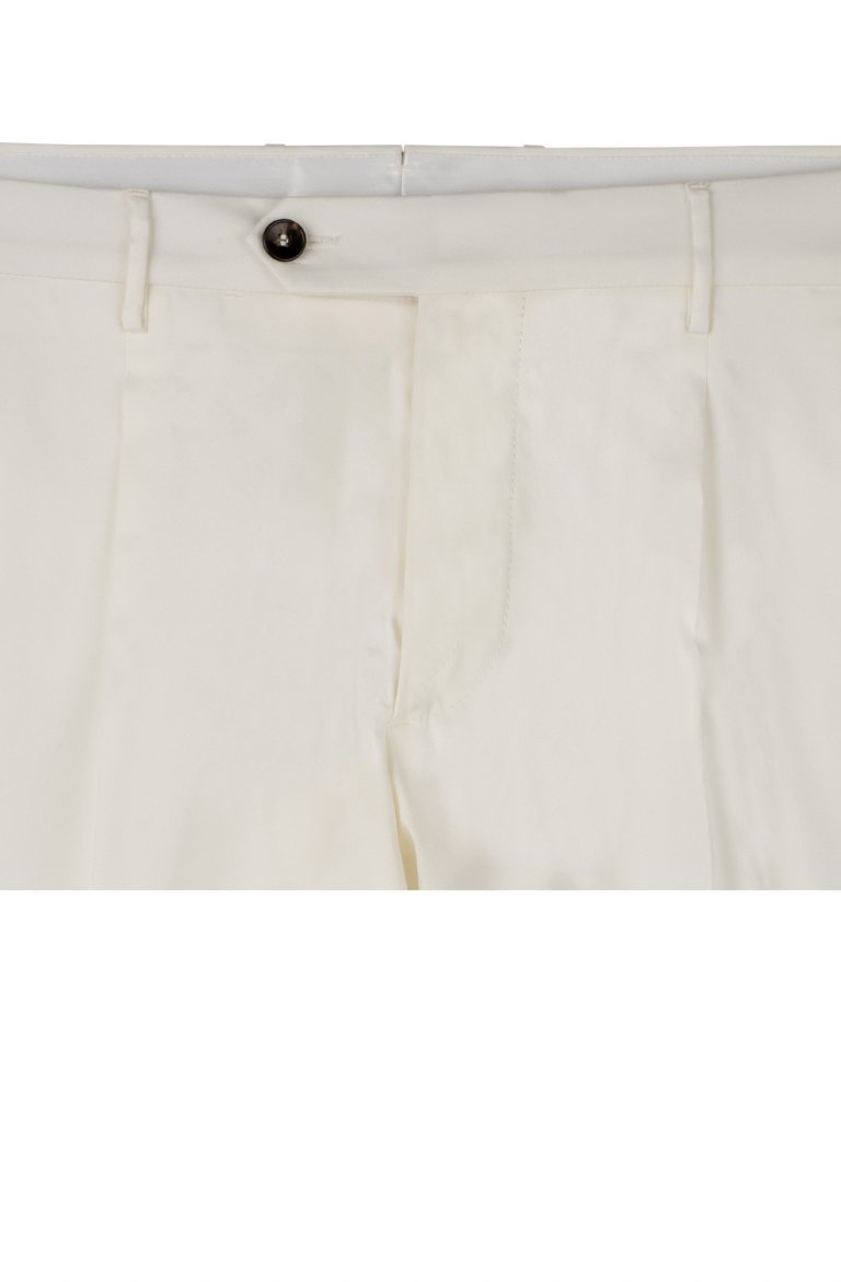 Plain Off White Trousers Mz35990.54.82