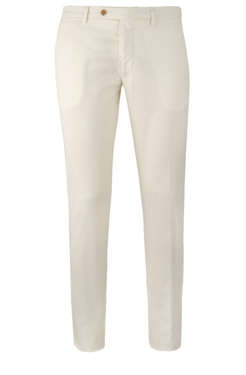 Plain Off White Trousers Ts5027.1.Pan