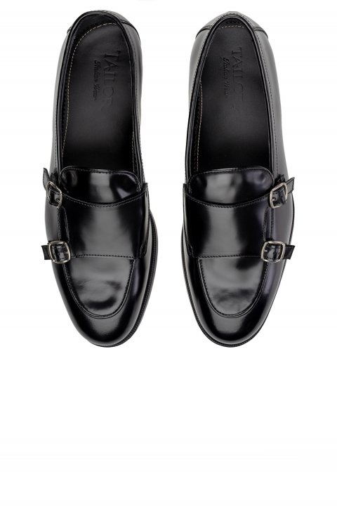 Monk Stripe Black Shoes 3401.Fd.Ner