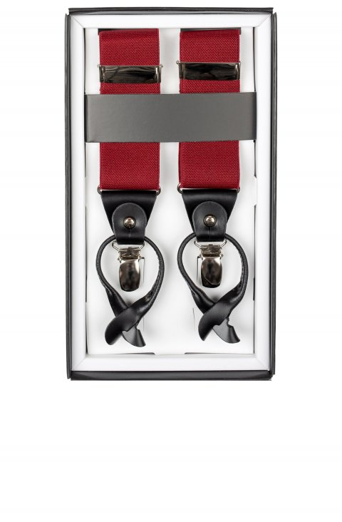 Plain Burgundy Suspenders Tte.10151.Burgundy