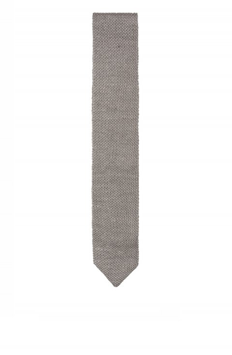Knitted Grey Tie Mcp.34936.052