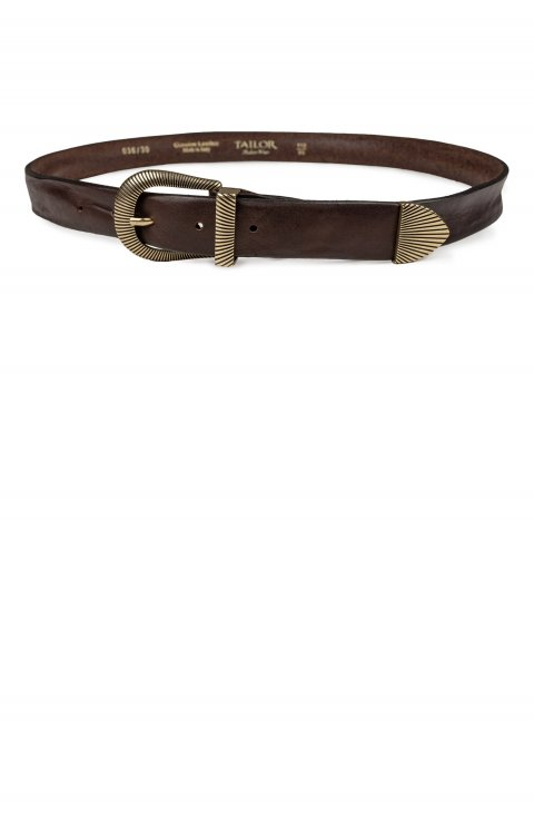 Plain Brown Belt 036.30.Moro