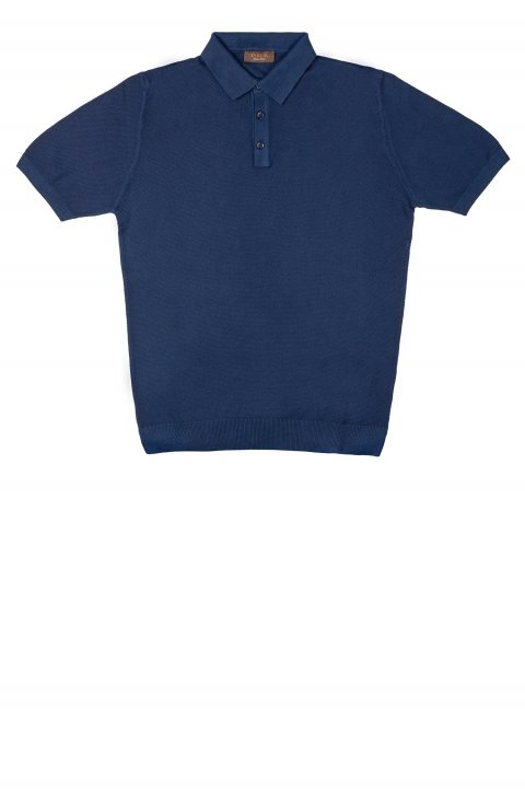 Plain Blue Polo Atf.105.Blu