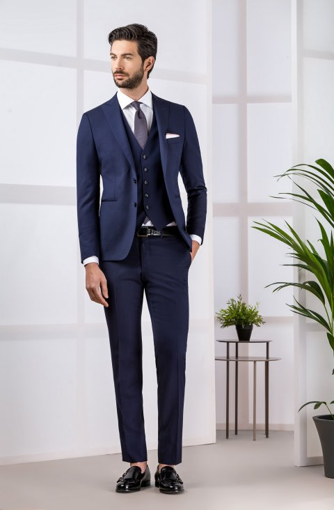 Jacquard Blue Suit Gb.1622.2