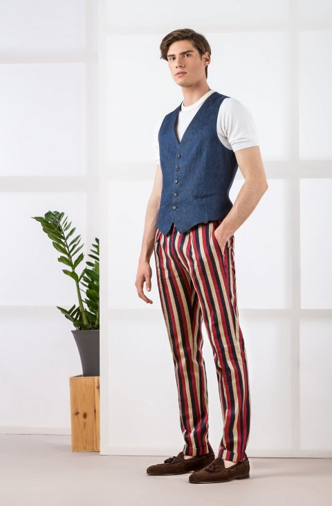 Stripe Red Trousers Ca.33894.79