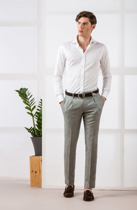 Plain Grey Trousers Mz.77348.131