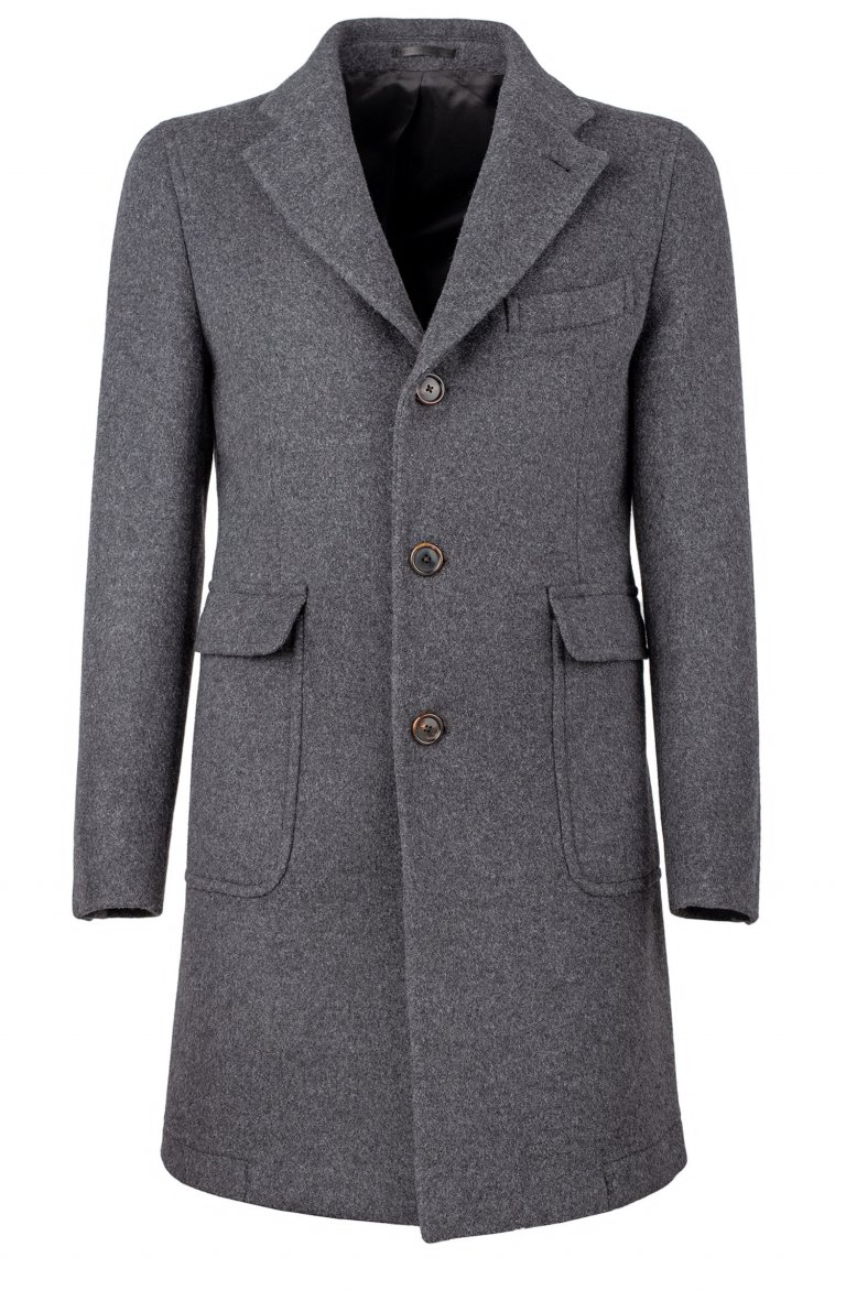 Plain Grey Coat Mb17.1.01