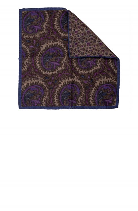 Print Purple Pocket Square Sppbic.1.Viola