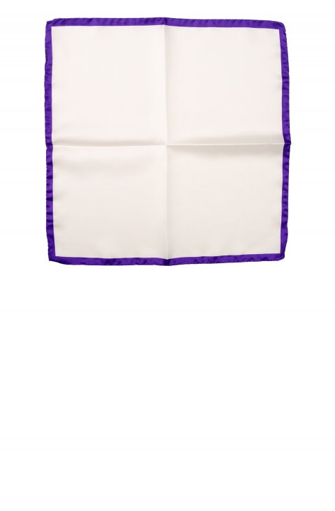 Plain Purple Pocket Square Sppbia.1.Viola