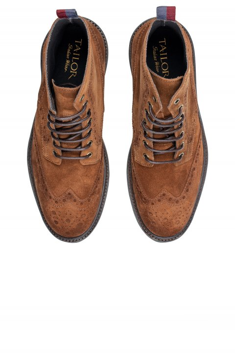Brogue Brown Boots Scm1713.1.Sienna