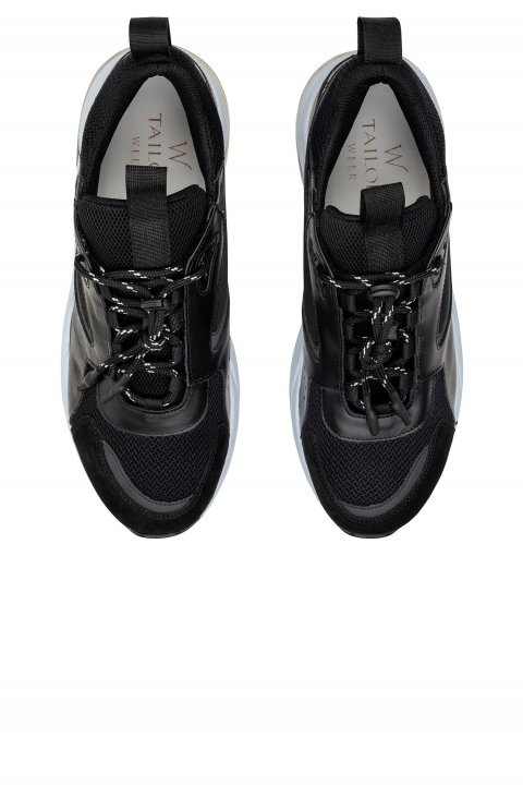 Plain Black Trainers Scfifspace.1.Nero