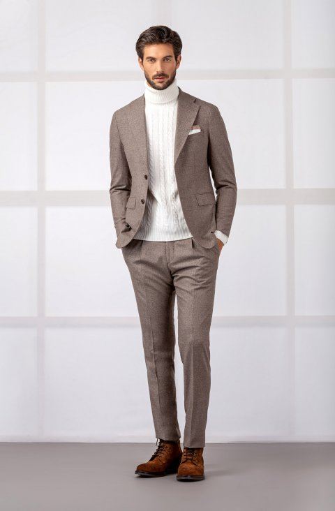 Plain Brown Suit Vmsan24.1.1