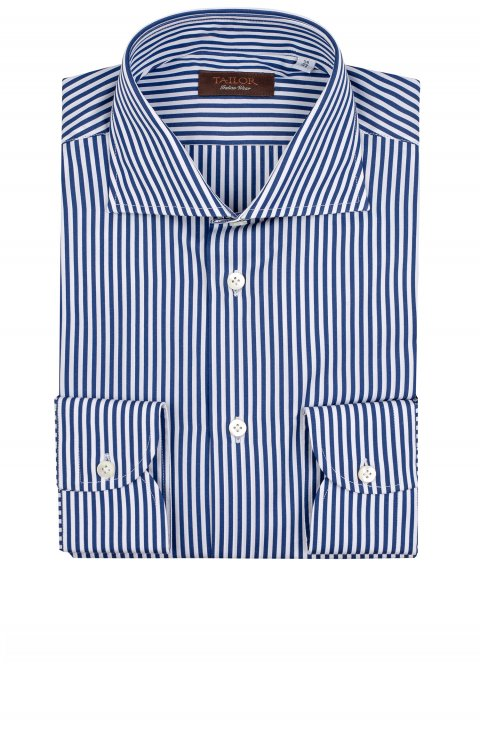 Stripe Blue Shirt Cfiml47.1.1