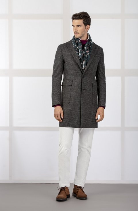 Check Grey Coat Mb8.160.02