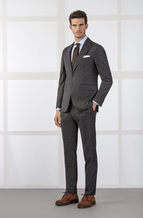 Check Grey Suit Vmsan51.1.2